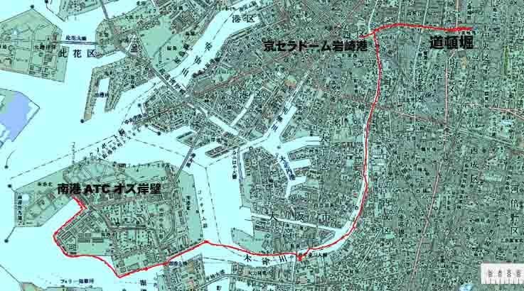 大阪運河ツアー2 道頓堀水門→ヨ...